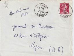 40 - LANDES - LABENNE -  1956 -  TàD DE TYPE A7 - Poststempel (Briefe)