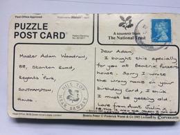 GB - PUZZLE POSTCARD - National Trust Beatrix Potter - 2 Scans - Lettres & Documents