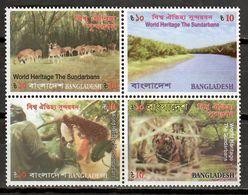 Bangladesh 2008 / UNESCO World Heritage Mammals MNH Mamíferos Säugetiere / Cu9419  41 - Sellos