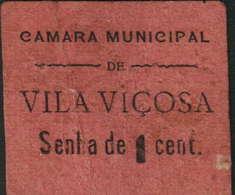 SENHA DE 1 CENTAVO - CÂMARA MUNICIPAL  DE VILA VIÇOSA - Portugal