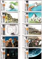 Lot De 10 Télécartes Suisse Recto-verso - Schweiz
