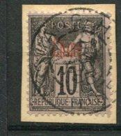 8313  CHINE  N°5a ° (sur Papier)  10c.noir S. Lilas Surcharge Rouge    1894 - 1900   TTB - Usati