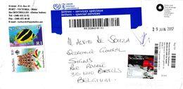 874-936 (Michel) Sur Enveloppe Ayant Circulé - Timbres émis En 2003-2011-2016 - Seychelles - Seychelles (1976-...)