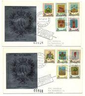 1968 - San Marino 755/68 Stemmi - FDC-, - Francobolli