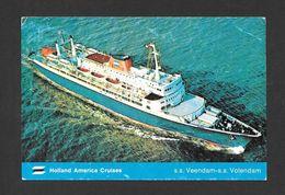 BATEAUX - PAQUEBOTS - SHIPS - S.S. VOLENDAM - S.S.HOLLAND AMERICA CRUISES - Paquebots