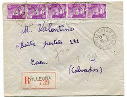 VAUCLUSE De VILLEDIEU   Env. Recom. De 1950    Avec Dateur A 6 - Marcophilie (Lettres)