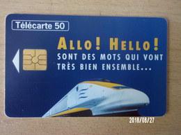 Eurostar Allo ! Hello ! 50U GEM - Trains