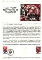 1986 DOCUMENT FDC LES MUSEES TECHNIQUES DE MULHOUSE - Documentos Del Correo