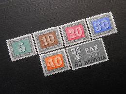 CH ZNr.262 - 266/268 - 5/10/20/30C**/40/60C* - 1945 - Z CHF 19.20 - Neufs