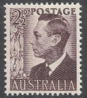 Australia. 1950 KGVI. 2½d Brown MNH. SG 237c - Mint Stamps