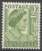 Australia. 1950 KGVI. 2d Green MH. SG 237 - Mint Stamps