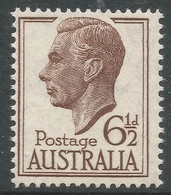 Australia. 1951-52 KGVI. 6½d Brown MNH. SG 249 - Mint Stamps