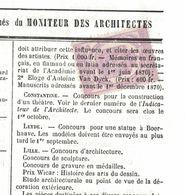 Journal Complet De 1869 Avec Timbre Annulation Typographique, Thème Antoine Van Dyck, Concours Construction Théatre - Kunst