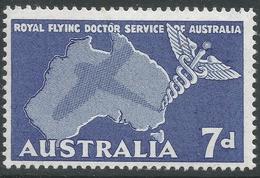Australia. 1957 Flying Doctor Service. 7d MH. SG 297 - 1952-65 Elizabeth II : Pre-Decimals