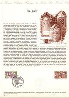 1974 DOCUMENT FDC SALERS CANTAL - Postdokumente