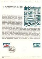1974 DOCUMENT FDC TURBOTRAIN T G V 001 - Postdokumente