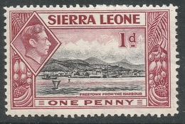 Sierra Leone. 1938-44 KGVI. 1d MH. SG 189 - Sierra Leone (...-1960)