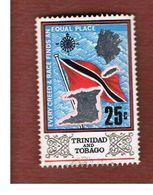 TRINIDAD & TOBAGO  - SG 345  - 1969  FLAG  - USED° - Trindad & Tobago (1962-...)
