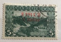 1914  BOSNIA ERZEGOVINA    VEDUTA SOPRASTAMPATO - Bosnia Erzegovina