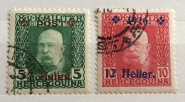 1915  BOSNIA ERZEGOVINA     SOPRASTAMPATI - Bosnia Erzegovina