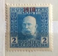 1918 BOSNIA ERZEGOVINA   SOPRASTAMPATO - Bosnia Erzegovina