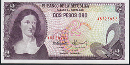 COLOMBIA    P413b    2   PESOS ORO   20.7.1977    UNC. - Colombie