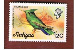 ANTIGUA & BARBUDA  - SG 469A  - 1976  BIRDS: ORTHORHYNCHUS CRISTATUS -  MINT** - Antigua E Barbuda (1981-...)