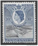 Kenya, Uganda & Tanganyika. 1954 Royal Visit. 30c MH. SG 166 - Kenya, Uganda & Tanganyika