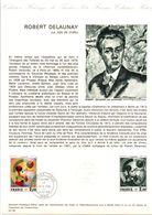 1976 DOCUMENT FDC PEINTURE LA JOIE DE VIVRE DE DELAUNAY - Documents De La Poste