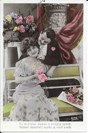 SERIE  2  CARTES  FANTAISIE ANNEE 1907 -  COUPLE   A LEGENDE    :    -  CIRCULEE - Autres