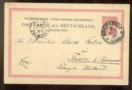 Deutsches Reich / 1886 / Postkarte K1-Stempel GREIFSWALD Nach Holland (16001) - Allemagne