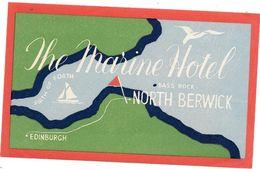 Anc. Etiquette D'Hôtel /de Bagages -Vintage Luggage Label- ECOSSE - THE MARINE HOTEL NORTH BERWICK - Etiquettes D'hotels