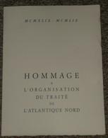 Document Illustré Edouard BERCK Tampons Premier 1er Jour 1959 Paris, 10e Anniversaire De L'OTAN NATO - France