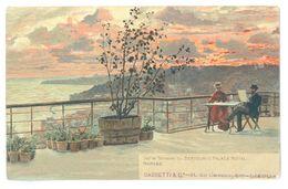 Vintage, Italy, Naples, Sur La Terrasse Du Bertolini's Palace Hotel. Printed Pc, Unused. - Hotels & Restaurants