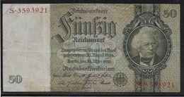 Allemagne - 50 Reichsmark - Pick N° 182 - TB - 50 Mark