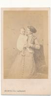 Photo CDV - Femme Et Enfant,  Période Second Empire - Delintraz, PARIS - Personnes Anonymes