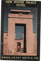 Anc. Etiquette D'Hôtel /de Bagages -Vintage Luggage Label-  EGYPTE - NEW WINTER PALACE HOTEL -UPPER EGYPT HOTELS Co - Etiquettes D'hotels