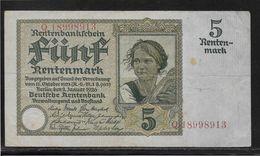 Allemagne - 5 Rentenmark - Pick N° 169 - TTB - [ 3] 1918-1933 : Repubblica  Di Weimar
