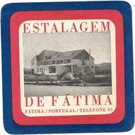 Anc. Etiquette D'Hôtel /de Bagages -Vintage Luggage Label-  PORTUGAL - ESTALAGEM DE FATIMA - Etiquettes D'hotels