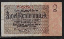 Allemagne - 2 Rentenmark - Pick N° 174 - TB - [ 3] 1918-1933 : République De Weimar