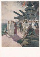 1955 Painting Rebellion On The Battleship Potemkin 1905 A Hood Dorokhov - Guerra