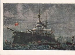 1955 Painting Battleship Potemkin Artist Bibikov - Guerra