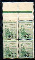 FRANCE - 1922 - Bloc De 4 Du N° 163 - (Au Profit Des Orphelins De La Guerre) - France