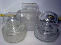 TRE TAPPI VASI VETRO VINTAGE D 2 X 3 CM. 1 X 8 CM. - Glass & Crystal