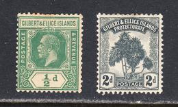Gilbert & Ellice Islands 1911 Mint Mounted, Sc# , SG 10,27 - Bahamas (...-1973)