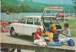 Automobile - Voiture : Peugeot  204  Break , Garage à Boulogne ( Péniche  Au  Loin) - Postcards