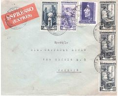 AFFRANCATURA MISTA CON £25 SAVONAROLA ESPRESSO - 6. 1946-.. Repubblica
