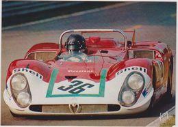 Automobile - Voiture :24 Heures Du Mans , Andréa De Adamich , Alfa Roméo 33 - Postcards