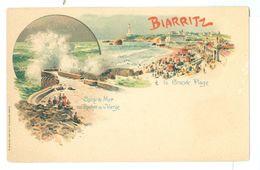 1890's, France, Biarritz, La Grande Plage. Printed Pc, Unused. - Biarritz