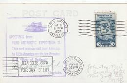 "Carte Postale De L 'anniversaire L'expedition Antartique ""Bear Of Oakland "" 1934 - Terres Australes Et Antarctiques Françaises (TAAF)"
